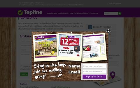 Screenshot of Contact Page topline.ie - Contact Us | Topline - captured Feb. 12, 2016