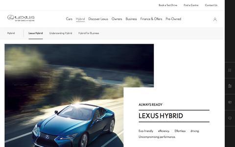 Our Hybrid Car Range | Lexus UK