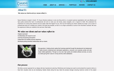 Screenshot of About Page nuevesolutions.com - Software and Web Development Company in Austin, TX | Austin Web developer specialized in Wordpress, Magento and PHP - captured June 23, 2017