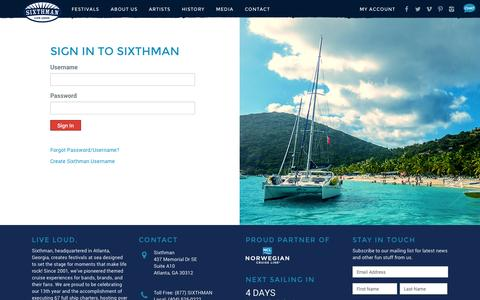 Screenshot of Login Page sixthman.net - Account - Manage Sixthman Username - captured Oct. 31, 2014