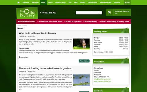 Screenshot of Press Page theotternursery.com - News - The Otter Nursery - Ottershaw, Surrey - captured Jan. 11, 2016