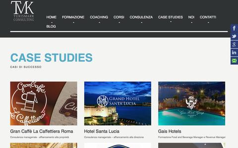 Screenshot of Case Studies Page turismark.com - Turismark   Formazione e Consulenza Ho.Re.Ca - captured Aug. 16, 2016