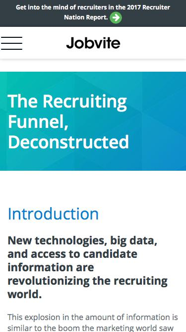 The Recruiting Funnel, Deconstructed eBook - Jobvite