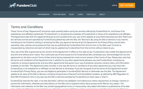 Terms and Conditions | FundersClub