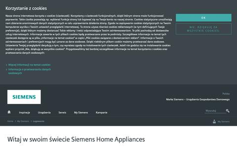 Screenshot of Login Page bsh-group.com - My Siemens - Twój świat możliwości | Siemens Home - captured Oct. 19, 2018