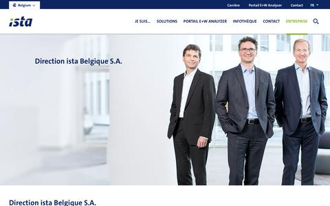 Screenshot of Team Page ista.com - Management | ista - captured Oct. 13, 2018