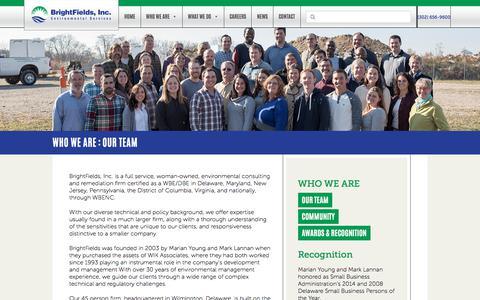 Screenshot of Team Page brightfieldsinc.com - Our Team   BrightFields, Inc. - captured April 23, 2018