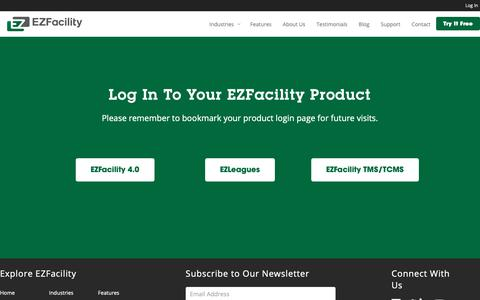 Screenshot of Login Page ezfacility.com - Log In to EZFacility - EZFacility - captured Dec. 7, 2018