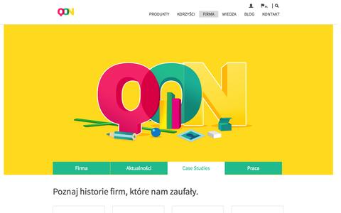 Screenshot of Case Studies Page quarticon.com - Konwersja do potęgi, sprzedaż online, remarketing, personalizacja. - captured Sept. 23, 2014