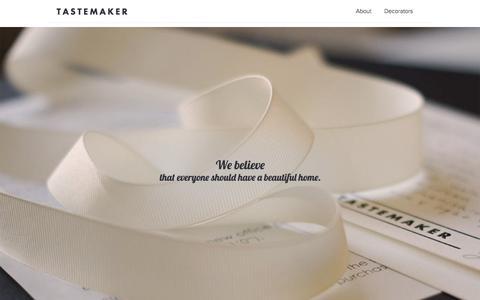 Screenshot of About Page tastemaker.com - About Us | Interior Designers - Home Interior Design | Tastemaker - captured Nov. 5, 2014