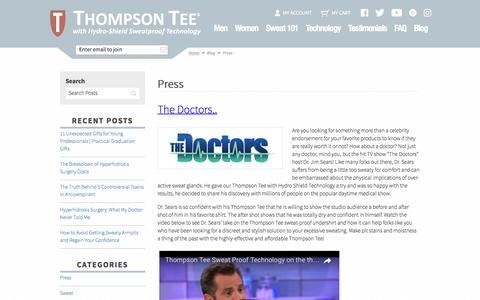 Press Archives  | Thompson Tee Blog