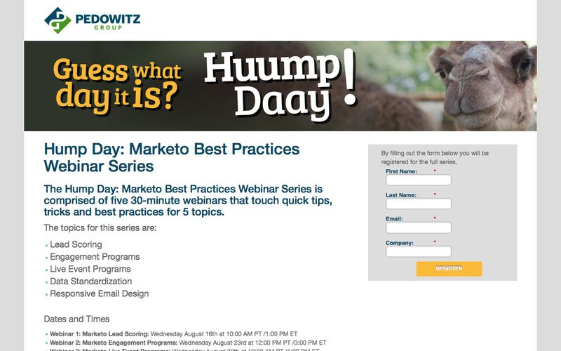 Hump Day: Marketo Best Practices Webinar Series