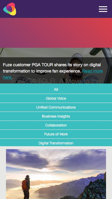 Screenshot of Blog  fuze.com - Blog   Fuze