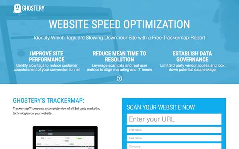 Screenshot of Landing Page ghostery.com - Ghostery Trackermap - captured March 15, 2016
