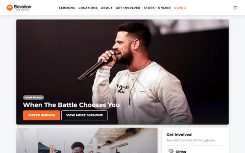 Screenshot of Home Page elevationchurch.org - Elevation Church - See What God Can Do Through You - captured June 7, 2019