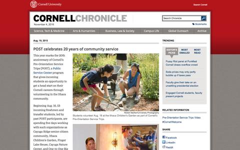 POST celebrates 20 years of community service | Cornell Chronicle