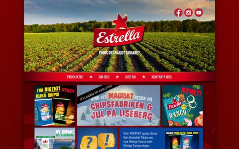 Screenshot of Home Page estrella.se - Estrella | Finns det något godare? - captured Jan. 27, 2015