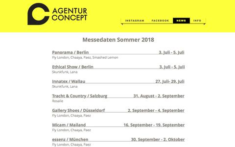 Screenshot of Press Page agenturconcept.de - Agentur Concept | News - captured July 29, 2018