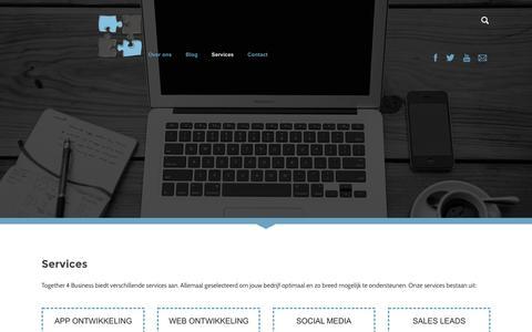 Screenshot of Services Page together4business.nl - Services - Together 4 Business ondernemersgerichte App- en Webmaker Venlo - captured Dec. 5, 2015