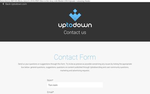 Screenshot of Contact Page gpsociety.org - Uptodown.com - Contacte-nous - captured Nov. 9, 2018