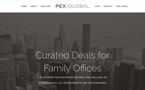 Screenshot of Home Page pexglobal.com - PEX Global - captured Sept. 26, 2015