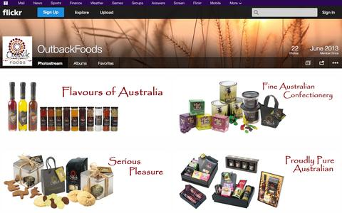 Screenshot of Flickr Page flickr.com - Flickr: OutbackFoods' Photostream - captured Oct. 26, 2014