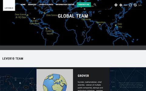 Screenshot of Team Page lever10.com - Global Team - Lever10 - captured July 18, 2018