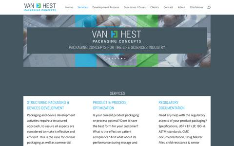 Screenshot of Services Page vhpc.nl - Services - Van Hest Packaging Concepts - captured Oct. 27, 2017