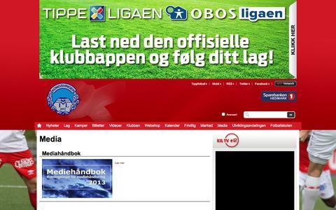 Screenshot of Press Page kil.no - Media  | Kongsvinger - captured Feb. 12, 2016