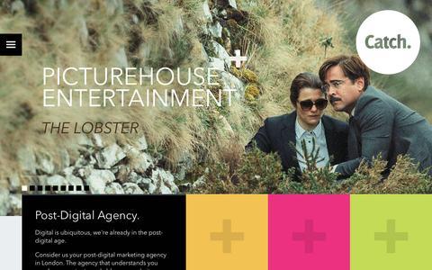 Screenshot of Home Page catchdigital.com - Catch Digital: Digital Marketing Agency London. - captured Dec. 7, 2015