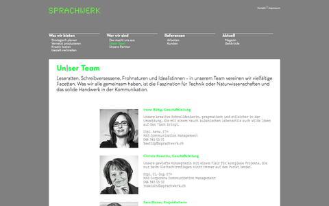 Screenshot of Team Page sprachwerk.ch - Unser Team - Texter für Technik und Naturwissenschaft - Sprachwerk - captured July 6, 2017