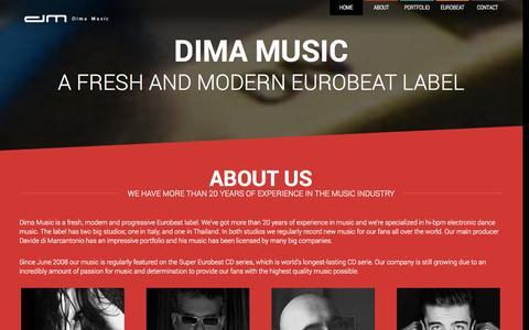 Screenshot of Home Page dimamusic.net - Dima Music - captured Sept. 30, 2014