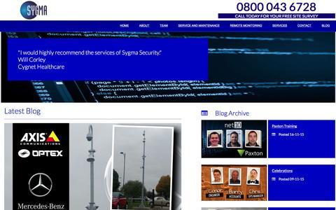 Screenshot of Blog sygmasecurity.co.uk - Blog - Sygma Security - captured Feb. 28, 2016