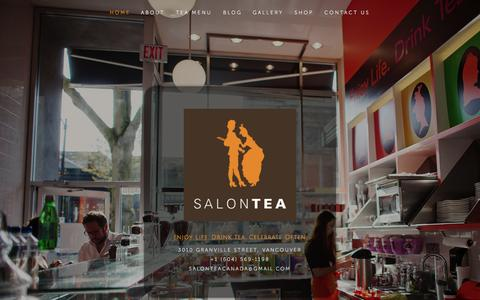 Screenshot of Home Page salontea.com - SALONTEA - captured Sept. 30, 2014
