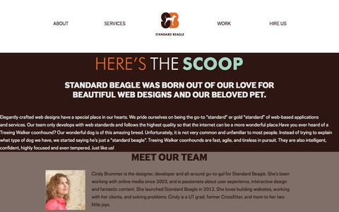 Screenshot of About Page standardbeagle.com - About Us - Meet our Team | Standard Beagle Studio - Websites, Content & Consulting - captured Oct. 7, 2014