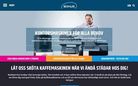Screenshot of Home Page bohus.se - Bohus - captured Jan. 6, 2016