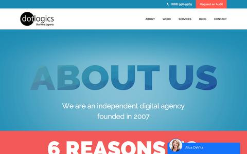 Screenshot of About Page dotlogics.com - About Dotlogics - Web design company in New York - captured April 2, 2018