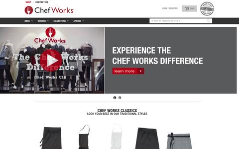 Screenshot of Home Page chefworks.ca - Chef Works | Chef Clothing and Uniforms for Restaurants and Hotels - captured Nov. 5, 2016