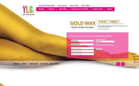 Screenshot of Home Page ylgindia.com - Premier Beauty Salons in Bangalore & Chennai | YLG India - captured Dec. 19, 2015