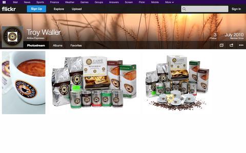 Screenshot of Flickr Page flickr.com - Flickr: Antica Espresso's Photostream - captured Oct. 23, 2014