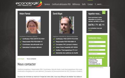 Screenshot of Contact Page econologik.com - Nous contacter   econologiK - captured Sept. 30, 2014