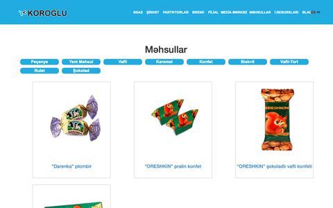 Screenshot of Products Page koroglu.az - Koroglu.az - captured Oct. 14, 2018
