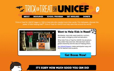 Trick-or-Treat for UNICEF 2016 Homepage | UNICEF USA