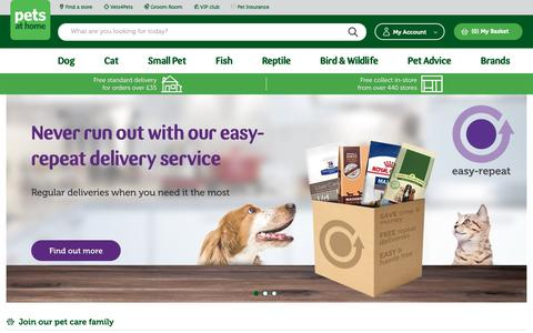Screenshot of Home Page petsathome.com - All your Pet Shop needs here at Pets At Home - captured March 20, 2019