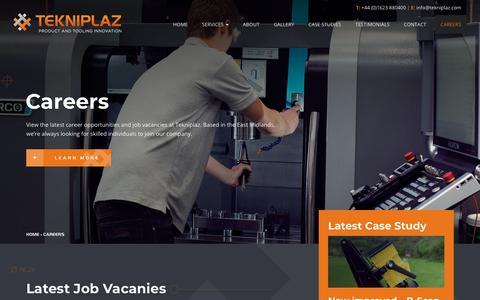 Screenshot of Jobs Page tekniplaz.com - Careers and Job Vacancies at Tekniplaz - captured Oct. 20, 2018