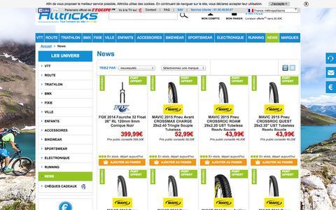 Screenshot of Press Page alltricks.fr - Toutes les nouveautés des plus grandes marques | Alltricks.fr - captured Sept. 24, 2014