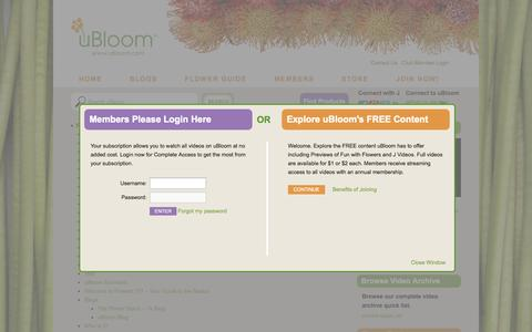 Screenshot of Site Map Page ubloom.com - Site Map - uBloom Administrator | Everything Flowers at uBloom Administrator - captured Sept. 19, 2014