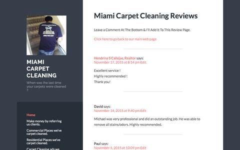 Screenshot of Blog wordpress.com - Miami Carpet Cleaning | When was the last time your carpets were cleaned ? - captured Jan. 10, 2016