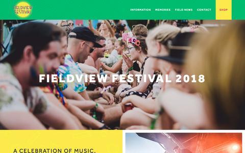 Screenshot of Home Page fieldviewfestival.co.uk - Fieldview Festival | Wiltshire's Biggest Little Music Festival - captured Oct. 21, 2018