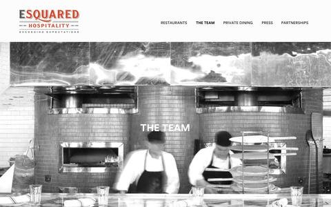 Screenshot of Team Page e2hospitality.com - The Team - ESquared Hospitality - We feature a team of critically acclaimed chefs throughout our 20+ restaurants around the world - captured June 24, 2017